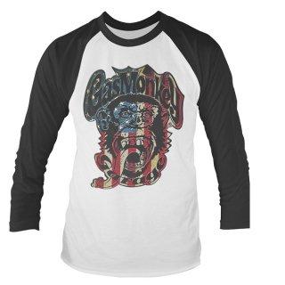 GAS MONKEY GARAGE Usa Monkey Logo, ラグランロングTシャツ
