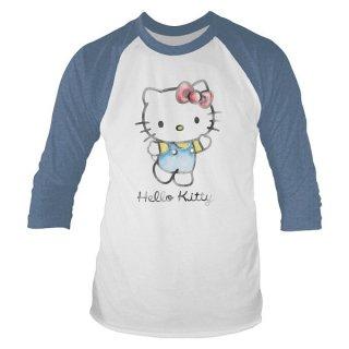 HELLO KITTY Watercolour, ラグランロングTシャツ