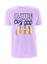 LED ZEPPELIN North america 75' orchid, Tシャツ