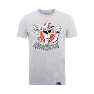 RICK AND MORTY Scary Terry Aww Bitch Heather Grey, Tシャツ