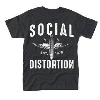 SOCIAL DISTORTION Winged Wheel, Tシャツ