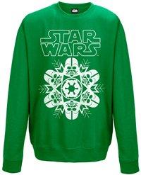 STAR WARS Vader snowflake (green), スウェットシャツ