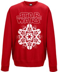 STAR WARS Vader snowflake (red), スウェットシャツ