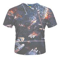STAR WARS Huge space battle (dye sub), Tシャツ