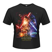 STAR WARS Force awakens poster, Tシャツ