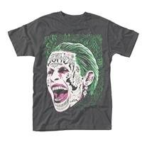 SUICIDE SQUAD Joker Tattooed Face, Tシャツ