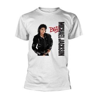 MICHAEL JACKSON Bad (White), Tシャツ