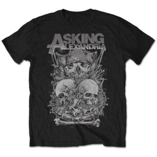 ASKING ALEXANDRIA Asking Skull Stack, Tシャツ