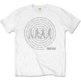 THE BEATLES Abbey Road Songs Swirl Wht, Tシャツ