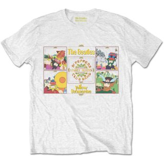 THE BEATLES Yellow Submarine Sgt Pepper Band, Tシャツ