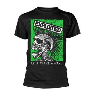 THE EXPLOITED Let's Start A War Skull, Tシャツ