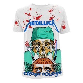 METALLICA Crash Course In Brain Surgery A/o Wht, Tシャツ