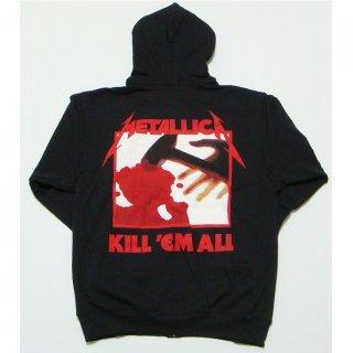 METALLICA Kill 'Em All, Zip-Upパーカー