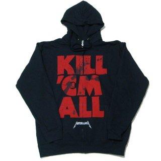 METALLICA Kill 'Em All Mutated Black, Zip-Upパーカー