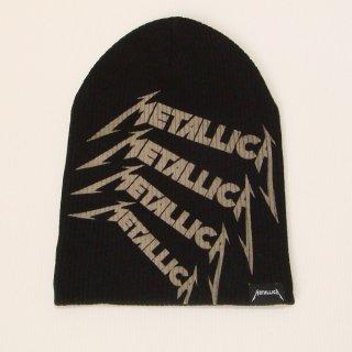 METALLICA Repeat Logo Black, ニットキャップ
