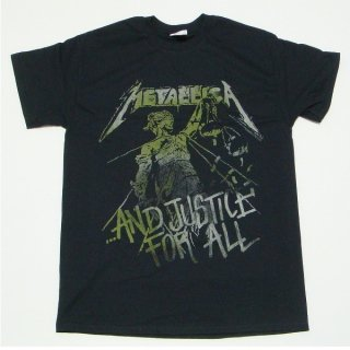 METALLICA Justice Vintage Black, Tシャツ