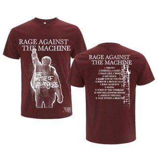 RAGE AGAINST THE MACHINE Ratm Bola Album Cover Maroon, Tシャツ