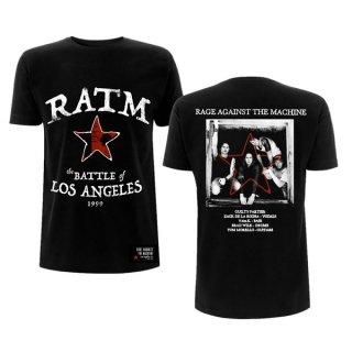 RAGE AGAINST THE MACHINE Ratm Battle Star Blk, Tシャツ