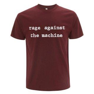 RAGE AGAINST THE MACHINE Ratm Logo Molotov Maroon, Tシャツ