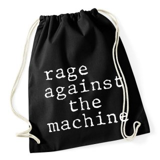 RAGE AGAINST THE MACHINE Ratm Stack Logo Black, ドローストリングバッグ