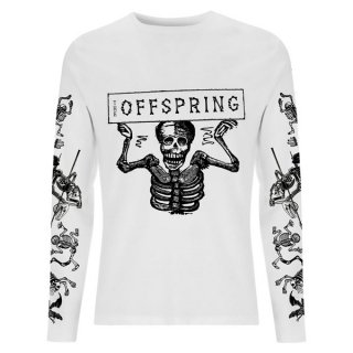 THE OFFSPRING Skeletons White, ロングTシャツ