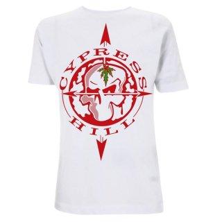 CYPRESS HILL Skull Compass White, Tシャツ