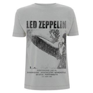 LED ZEPPELIN Uk Tour 1969 Lz1 Ice Grey, Tシャツ