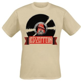 LED ZEPPELIN Mothership Record Ecru, Tシャツ
