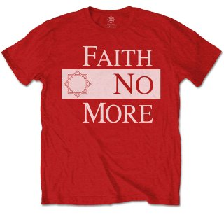 FAITH NO MORE Classic New Logo Star Red, Tシャツ<img class='new_mark_img2' src='https://img.shop-pro.jp/img/new/icons5.gif' style='border:none;display:inline;margin:0px;padding:0px;width:auto;' />