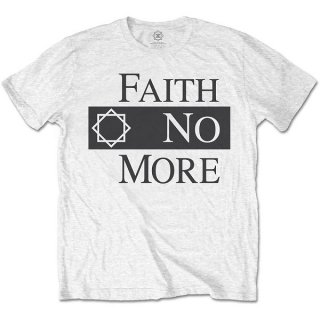 FAITH NO MORE Classic Logo V.2. Wht, Tシャツ<img class='new_mark_img2' src='https://img.shop-pro.jp/img/new/icons5.gif' style='border:none;display:inline;margin:0px;padding:0px;width:auto;' />