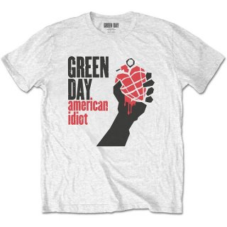 GREEN DAY American Idiot Wht, Tシャツ<img class='new_mark_img2' src='https://img.shop-pro.jp/img/new/icons5.gif' style='border:none;display:inline;margin:0px;padding:0px;width:auto;' />
