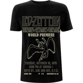 LED ZEPPELIN Tsrts World Premier, Tシャツ<img class='new_mark_img2' src='https://img.shop-pro.jp/img/new/icons5.gif' style='border:none;display:inline;margin:0px;padding:0px;width:auto;' />