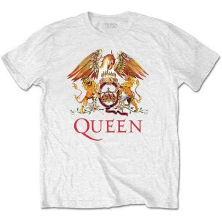 QUEEN Classic Crest Wht, Tシャツ<img class='new_mark_img2' src='https://img.shop-pro.jp/img/new/icons5.gif' style='border:none;display:inline;margin:0px;padding:0px;width:auto;' />