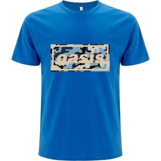 OASIS Camo Logo Blu, Tシャツ