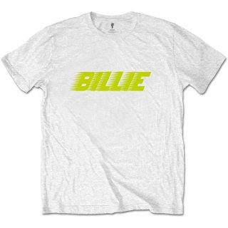 BILLIE EILISH Racer Logo Wht, Tシャツ