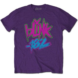 BLINK-182 Neon Logo Pur, Tシャツ
