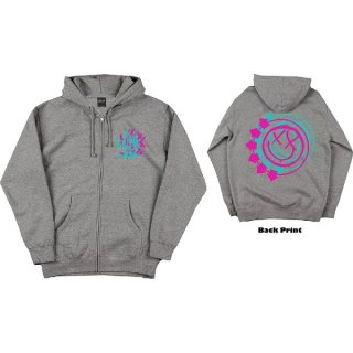 BLINK-182 Double Six Arrow Smiley Grey, Zip-Upパーカー