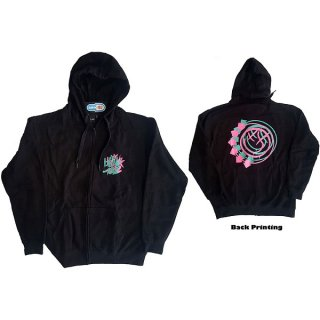 BLINK-182 Double Six Arrow Smiley Blk, Zip-Upパーカー