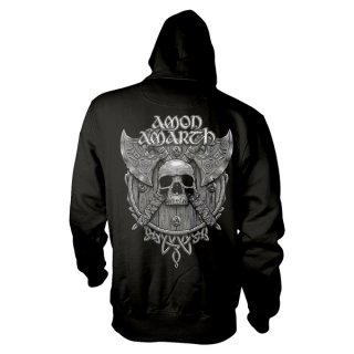 AMON AMARTH Grey Skull, パーカー