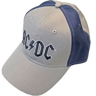AC/DC Black Logo 2 Tone Grey Navy, キャップ