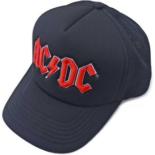 AC/DC Red Logo Mesh Back, キャップ