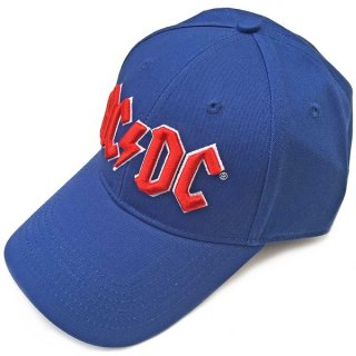 AC/DC Red Logo Mid Blue, キャップ