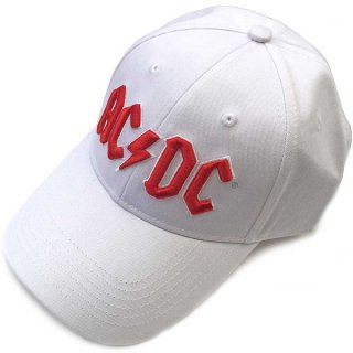AC/DC Red Logo White, キャップ