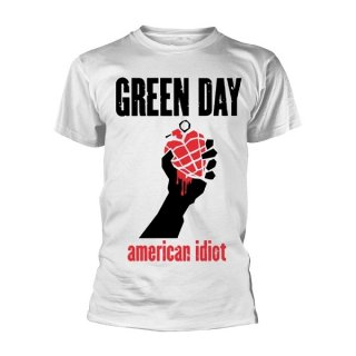 GREEN DAY American Idiot Heart Wht, Tシャツ