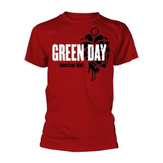 GREEN DAY American Idiot Heart Grenade Red, Tシャツ