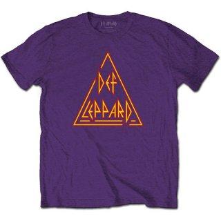 DEF LEPPARD Classic Triangle Logo Pur, Tシャツ