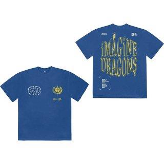 IMAGINE DRAGONS Lyrics Blu, Tシャツ