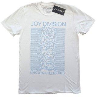 JOY DIVISION Unknown Pleasures Blue On White, Tシャツ