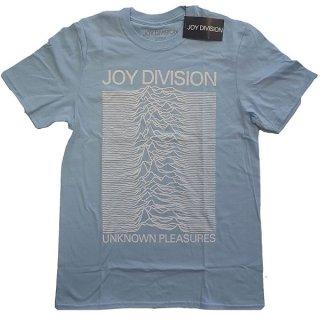 JOY DIVISION Unknown Pleasures White On Blue, Tシャツ