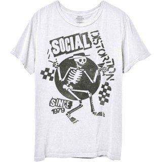 SOCIAL DISTORTION Speakeasy Checkerboard Wht, Tシャツ
